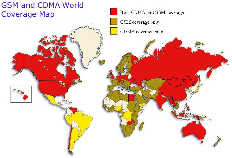 World Cell Phone Coverage Map - Enjoy! - Horizons Unlimited ...