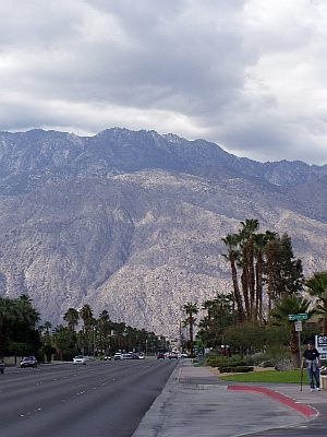 Palm Springs: Mount Jacinto vanaf Ramon Road