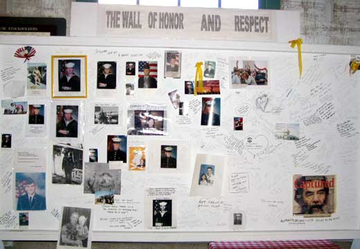 Wall of honor and respect in Kingman, Arizona