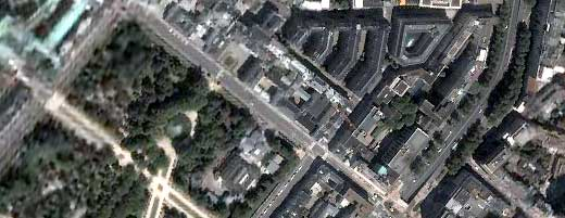 Wetstraat op Google Earth